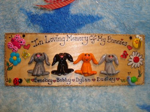 4 character 3d Animal Any Pet Memorial Sign Cat Dog Chicken Rabbit Guinea Pig ReptileSign Any Phrasing Personalised Plaque